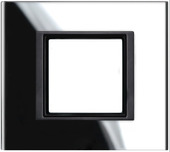 Рамка х1 стекло Черное стекло